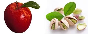 pistachios and apple